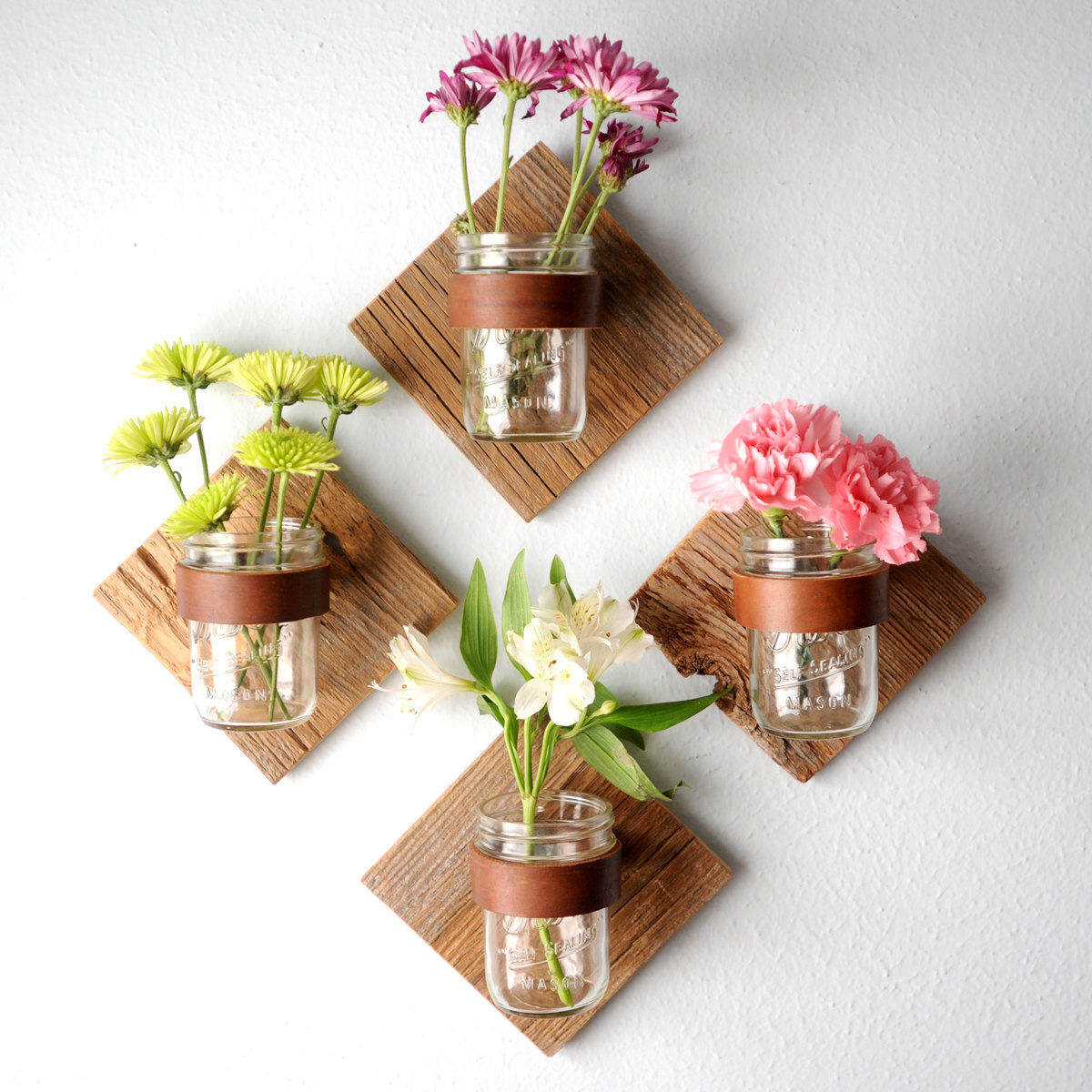 How to decorate home with flowers - Mason Jar Flowers Home Decor