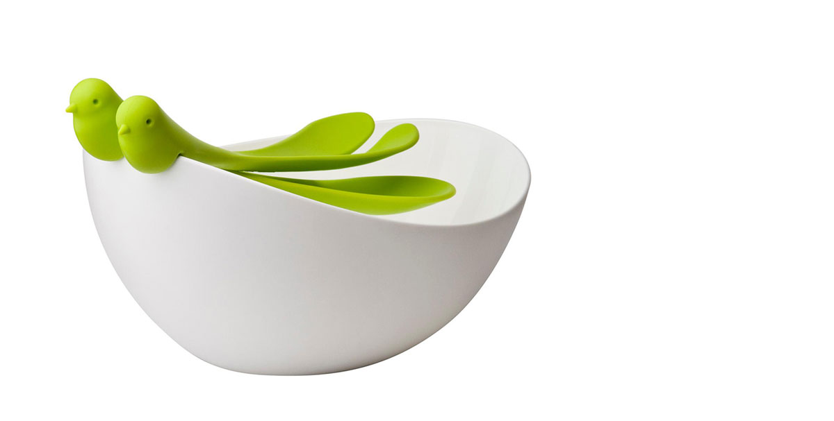 Decorative salad bowl