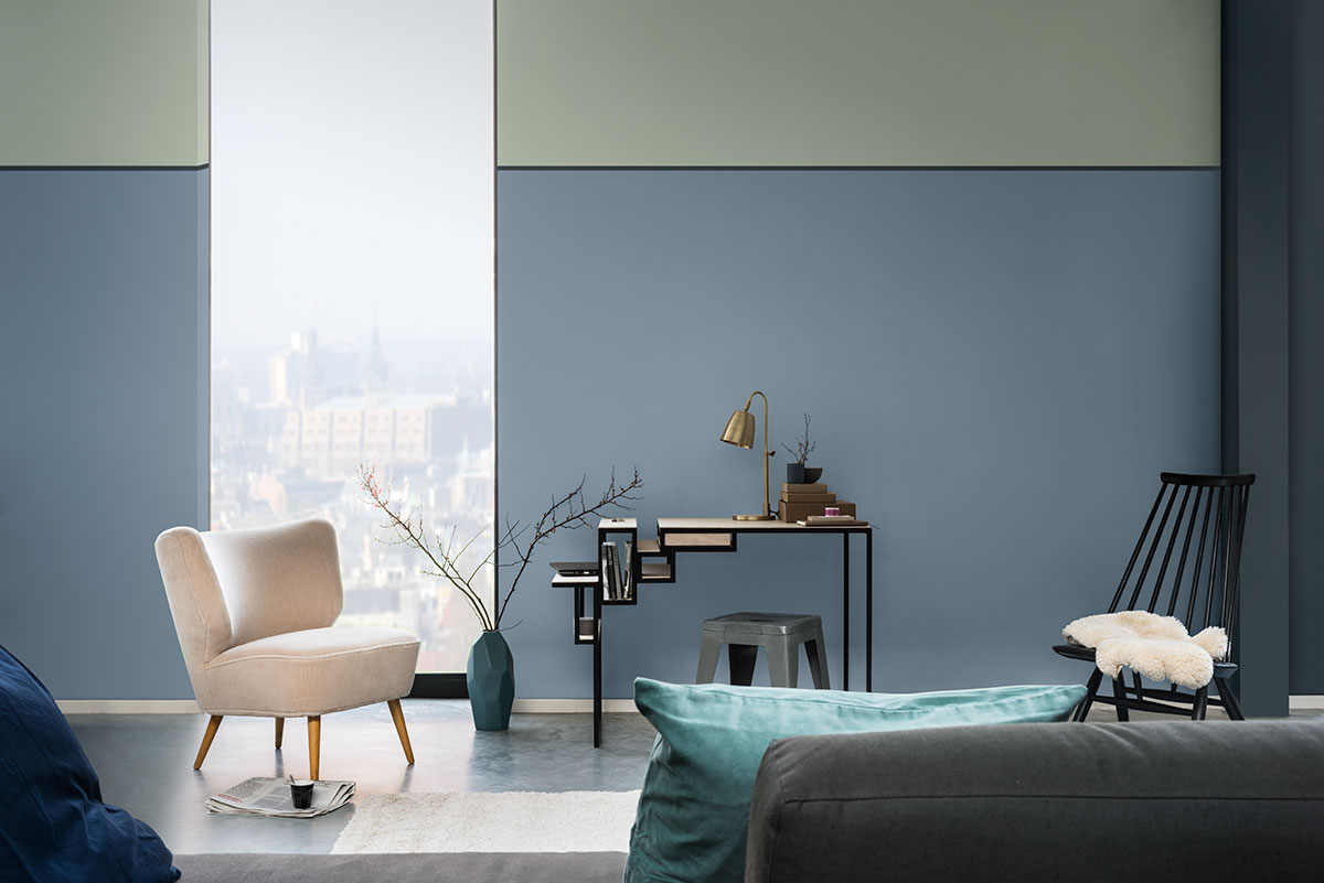 Painting a picture of calm, Dulux's Colour of The Year 2017, Dulux Denim Drift 87BG 27/077, is a wonderfully versatile hue that will add volume to your space.