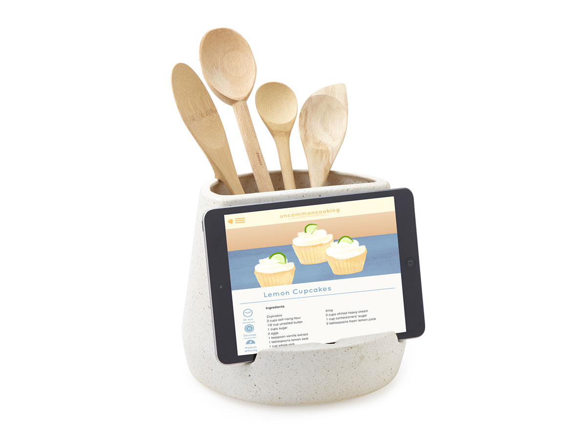 Kitchen utensil and tablet holder from UnCommonGoods