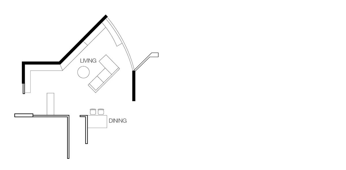 angled living room layout
