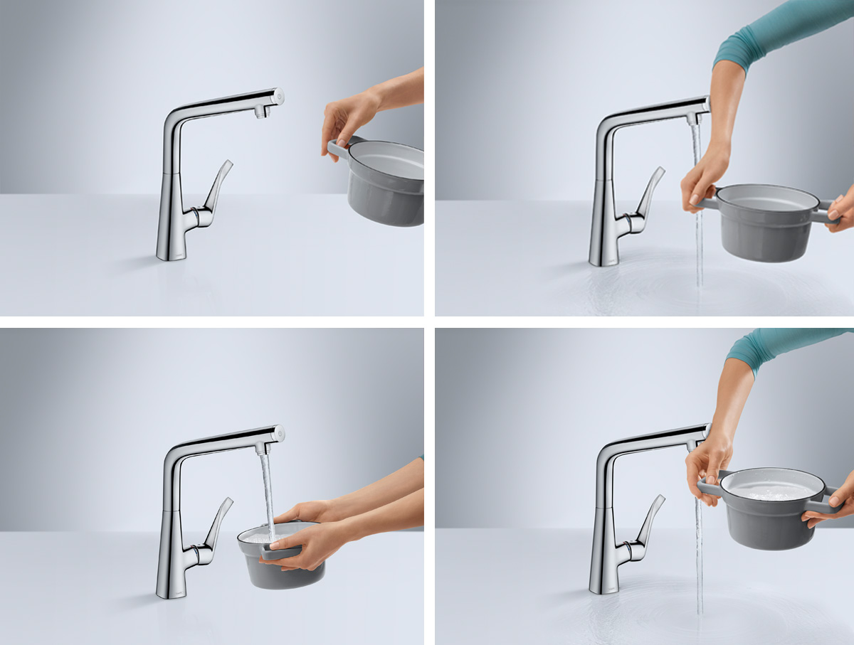 Hansgrohe_MetrisSelect_KitchenMixer-_Workflow_Pot_1