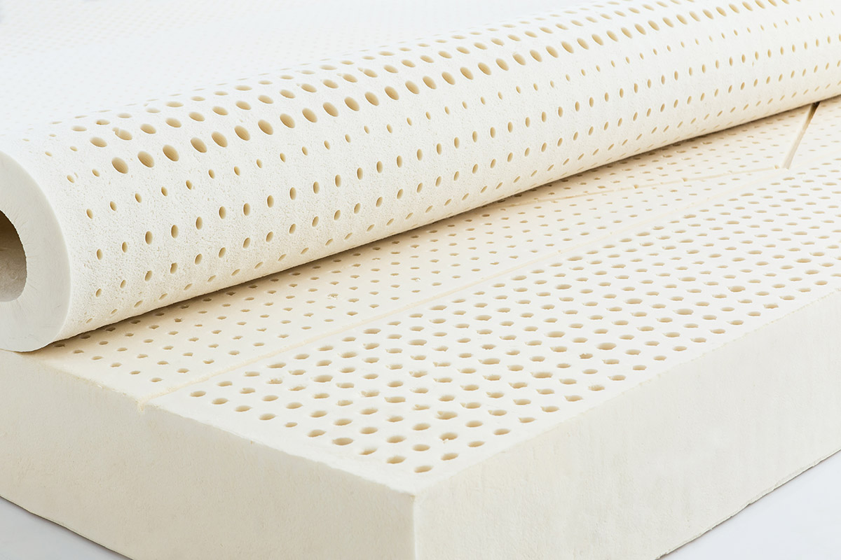Open cells within the Heyveya organic latex mattress from European Bedding facilitates optimum airflow as you sleep.